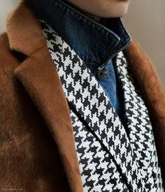 How to master the art of layering: 10 Crosby Derek Lam coat, Stella Mccartney houndstooth jacket, Proenza Schouler denim jacket, Club Monaco turtleneck