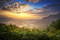 Gorgeous view in the Great Smoky Mountains! We love these sunrises!