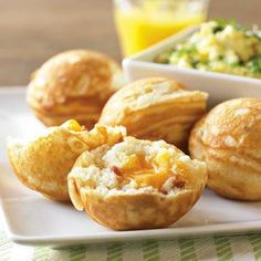 Ebelskivers - simply fabulous - Bacon & Cheddar Filled (you need the pan to make them but they are so YUMMY everyone loves them and promptly buys a pan) easy to make with a pancake/waffle batter - sweet or savory - enjoy! :)