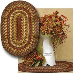 Cinnamon Braided Placemat will add a warm country look to your table!