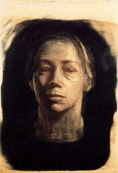 bonfirebirth: Self Portrait Kathe Kollwitz (source: scriptophobia)