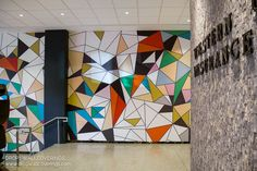 Commercial Vinyl Wall Mural by Calgary Wallpaper Installer Drop Wallcoverings