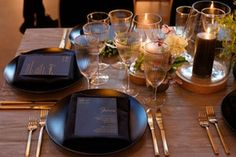 La Tavola Fine Linen Rental: Velvet Onyx Napkins | Event Planning & Catering: Foxtail Catering & Events, Florals: Wild Club, Rentals: Found Rentals, Lighting: Got Light, Paper Goods: Cecile's Paper Co, Venue: The Pearl