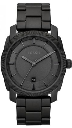 Fossil FS4704 Black Stainless Steel Watch < $85.17 > Fossil Watch Men  Paul wants a black fossil watch. (Not leather, all black) - titanium mens watches, shop mens watches, mens gold designer watches