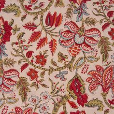 Anokhi table cloth with festive floral print - Contemporary India