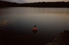 stephanienoritz:  Night swim. Matt, 2014