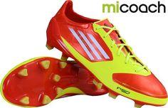 Adidas F50 AdiZero TRX FG+ miCoach Rood Geel