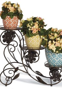 Blooming Flower Pot Stands.