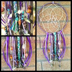Gemstone Dreamcatcher  18cm diameter with Quartz crystals and other gemstone beads,  shells and pretties :)  $45 www.facebook.com/chalcedonyrose