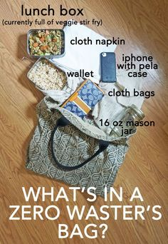What's in my bag? What does a zero waster carry with them on an almost daily basis to avoid trash and waste while out? Find out at http://www.goingzerowaste.com