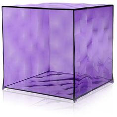 Kartell Optic Cube - Purple (320 CAD) ❤ liked on Polyvore featuring home, furniture, storage & shelves, purple, purple furniture, cube furniture, kartell, kartell furniture and transparent furniture