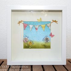 Old project but great for spring! Create a shadow box for your kid's room How-to video: Live Love Laugh