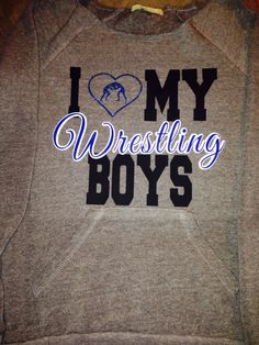 Off the shoulder wrestling mom shirt Sizes small-xl Have it say Wrestling boy or boys Also have this design made on basic t or fitted shirt Wrestling Mom Shirts, Wrestling Quotes, Football Shirts, Sports Shirts, College Wrestling, Team Mom, Sports Mom, Cool Shirts, Cheerleading
