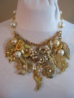 Vintage Wedding Necklace Bridal Necklace by JenniferJonesJewelry, $169.00