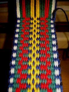 Inkle Weaving Patterns, Loom Weaving, Loom Patterns, Card Weaving, Tablet Weaving, Inkle Loom, Hungarian Embroidery, Loom Bands, Lana