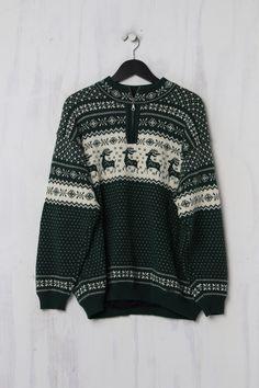 Vintage Norweger Pullover, second Hand, aus reiner Schurwolle, von Steffner Troyer, Trends, Two Hands, Vintage, Sweaters, Fashion, Moda, Fashion Styles, Sweater