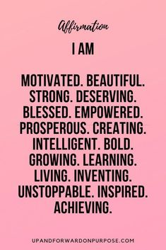 31 Daily Affirmations to Increase Your Confidence to Grow Your Business! - Grassfed Mama - 31 Daily Affirmations to Increase Your Confidence to Grow Your Business! – Grassfed Mama Change your thoughts, change your life! Positive Quotes For Life Encouragement, Positive Quotes For Life Happiness, Deep Meaningful Quotes, Positive Thoughts, Positive Quotes For Work, Self Love Quotes, Great Quotes, Quotes To Live By, Me Quotes