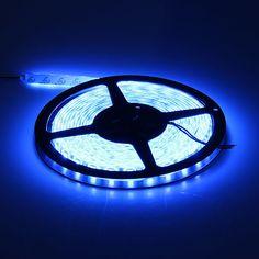 [US$21.61] 12V 72W 2800lm 300-SMD 5050 Car LED Strip Light Decoration Lights Blue  #2800lm #300smd #5050 #blue #decoration #light #lights #strip
