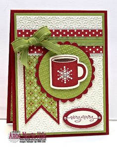 Love the layout and the combo of patterns and solids. I think it needs the candy cane in the cup 'o cocoa.
