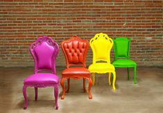 Modern Colorful Victorian Style Furniture Collection By POLaRT Design – 06 – Chair | Designalmic