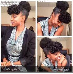 )) Natural Hair Glory.  Natural Hair Updo.  Cute!!