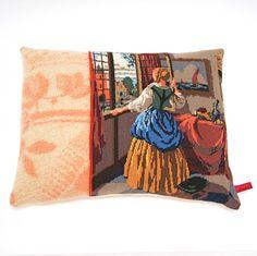 kussen borduur deken