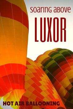 There are many ways to see Luxor's famous tombs and temples. The most magical way is taking to the skies in one of Magic Horizon& Hot Air Balloons! Travel Info, Travel Advice, Travel Tips, Travel Hacks, Budget Travel, Travel Ideas, Travel Articles, Travel Stuff, Usa Travel