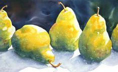 Pear'scape #7 - Sue Archer Watercolors
