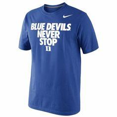 Nike Duke Blue Devils Never Stop T-Shirt - Duke Blue