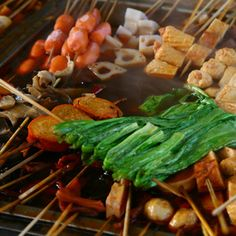 Malatang, common type of Chinese street food, especially popular in Beijing.