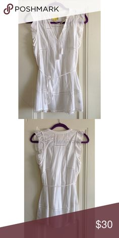 Anthropologie White Laced Top!!! Brand new, never worn. Anthropologie Tops