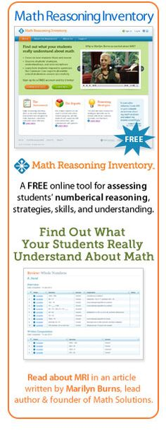 Find Out What Your Students Really Understand About Math.  Check Out the Math Reasoning Inventory by MathSolutions!