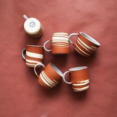 Desert mugs by Helen Levi