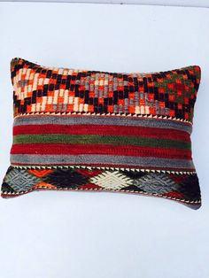 Embroidered kilim pillow  by PergamonArt