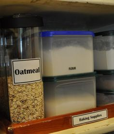 Organized pantry - lots of great ideas and tips for getting things in shape!