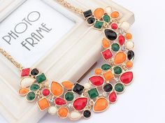 Bib statement necklace with crystal Fashion Necklace, Fashion Jewelry, Jewelry Sets, Women Jewelry, Crystal Necklace, Bangle Bracelets, Chokers, Pendants, Crystals