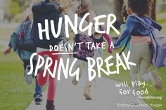 Most children excitedly count down the days to vacation but #foodinsecure students, who depend on free school breakfast and lunch programs, anxiously count the days until they return.  Together we can change this!  SHARE this post to raise awareness & JOIN THE FIGHT to #EndChildhoodHunger @ willplayforfoodfoundation.org