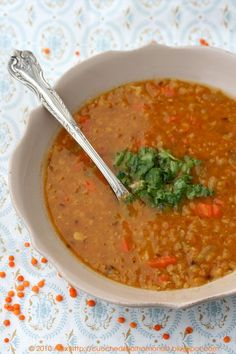 Italy  - Italian soup  - Red lentils soup Zuppa di lenticchie rosse