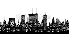 Urban skyline of a city — Stock Vector #5984634