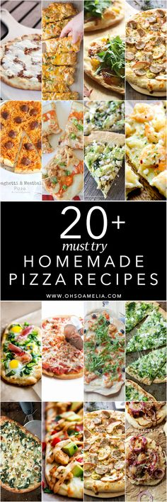 Are you a pizza lover? Here are 20+ Must Try Homemade Pizza Recipes for breakfast, lunch or dinner! There's sure to be something that catches your eye!