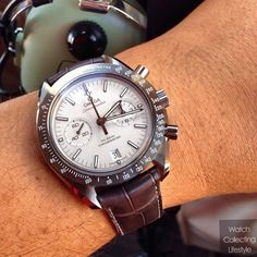 Omega Speedmaster grey side of the moon chronograph