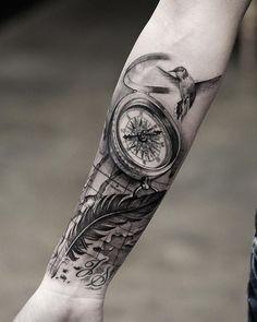 Afbeeldingsresultaat voor kompas tattoo design