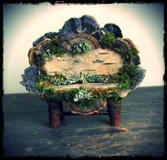 Fairy Love Seat, Custom Order, fairy furniture, fairy dollhouse, dollhouse furniture, rustic, natural materials, creative play