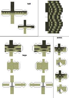 minecraft papercraft dinosaur - Google Search