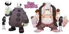 Early Hotel Transylvania character-designs by Fabien Mense
