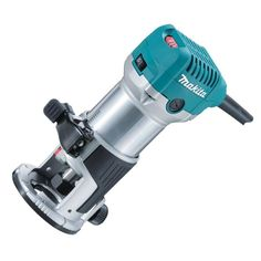 MAKITA HAND ROUTER Aluminum housing and base for higher durability and accuracy. Flat-top design and Horizontally installed power supply cord prov. Hand Router, Router Tool, Trim Router, Dremel, Led Profil, Makita Power Tools, Best Laminate, Dust Extractor, All Tools