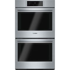 Shop Bosch 800 Series Convection Double Electric Wall Oven (Stainless Steel) at Lowe's Canada online store. Find Double Electric Wall Ovens at lowest price guarantee. Gas Wall Oven, Electric Wall Oven, Wall Ovens, Four A Convection, Microwave Drawer, Bosch Appliances, Kitchen Appliances, Stainless Steel Oven, Built In Ovens