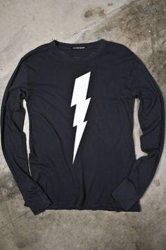 men's white lightning