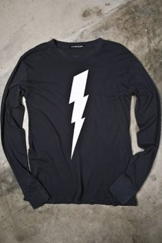 men's white lightning: I'm pretty sure I need a lightning bolt on my chest.