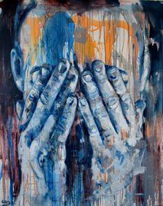 """Saatchi Art Artist Dejan Bozinovski; Painting, """"Portrait 12"""" #art"""